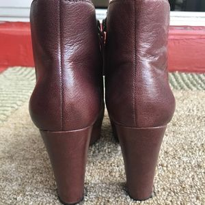Nine West Shoes - Nine West Maroon Heeled Booties